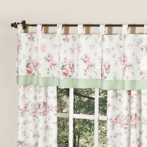 Sweet Jojo Designs Riley's Roses Window Valance