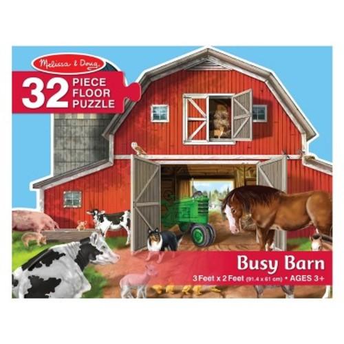 Melissa & Doug Busy Barn Shaped Jumbo Jigsaw Floor Puzzle (32pc, 2 x 3 feet)