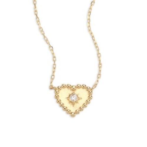 Dew Drop Diamond Heart Stud Earrings