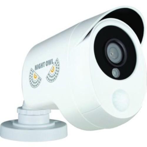 Night Owl CAM-PIRHDA10W-BU Wired Indoor/Outdoor Analog Security Camera, Night Vision, White