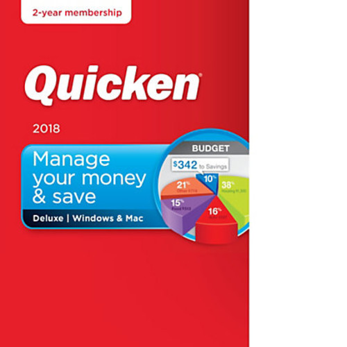 Quicken Deluxe 2018, 2-Year Subscription, For PC/Mac, Download Version