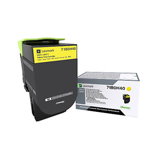 Lexmark 71B0H40 High-Yield Yellow Toner Cartridge