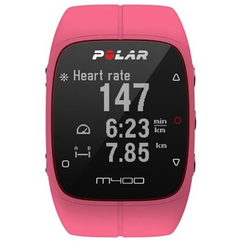 Polar M400 GPS Running Sports Watch with H7 Heart Rate Sensor, Pink 90057191