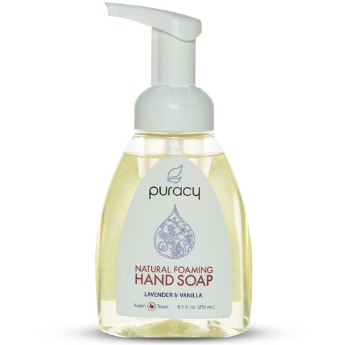 PURACY - Natural Foaming Hand Soap - Lavender & Vanilla 8.5 fl. oz/251 ml