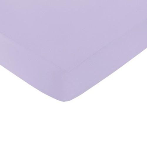 Sweet Jojo Designs Lavender Elizabeth Fitted Crib Sheet - Purple