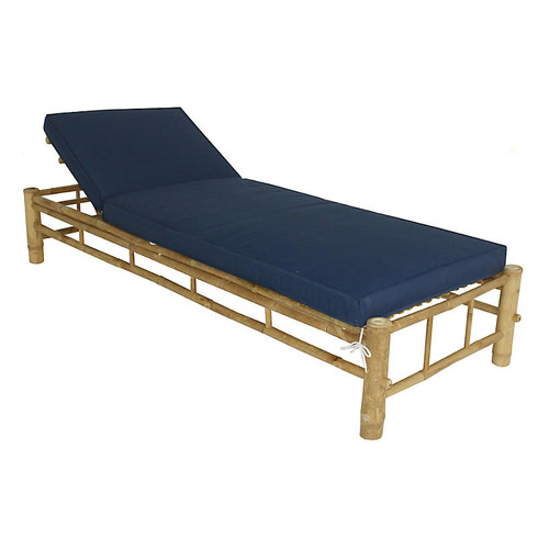 Loungera Chaise, Natural/Navy