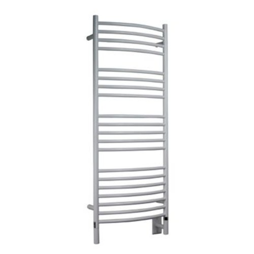 Amba Jeeves Wall Mount Electric D Curved Towel Warmer; White