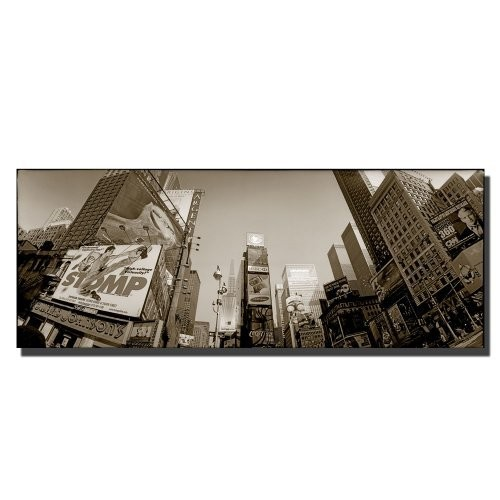 Times Square by Preston, 8x24-Inch Canvas Wall Art [8 by 24-Inch]