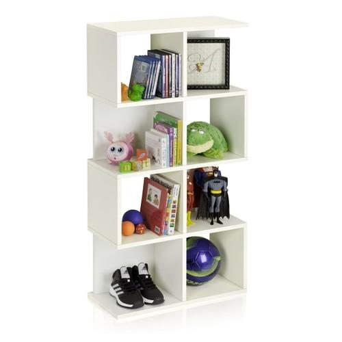 Malibu Eco 4-Shelf Bookcase Modern Storage Shelf by Way Basics LIFETIME GUARANTEE [option : WHITE - White]