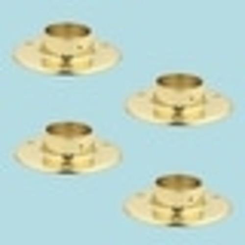 4 5 Floor Flange Solid Brass Fits 2 Tubing Bracket
