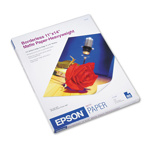 Epson Very High Resolution Print Paper, White, 50 / Pack (Quantity)