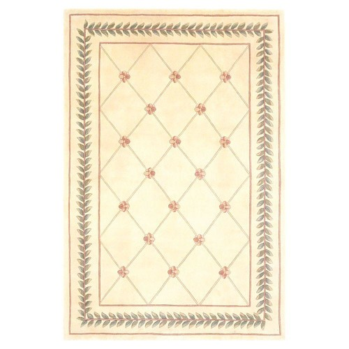 Kas Rugs French Trellis Ivory 3 ft. 3 in. x 5 ft. 3 in. Area Rug