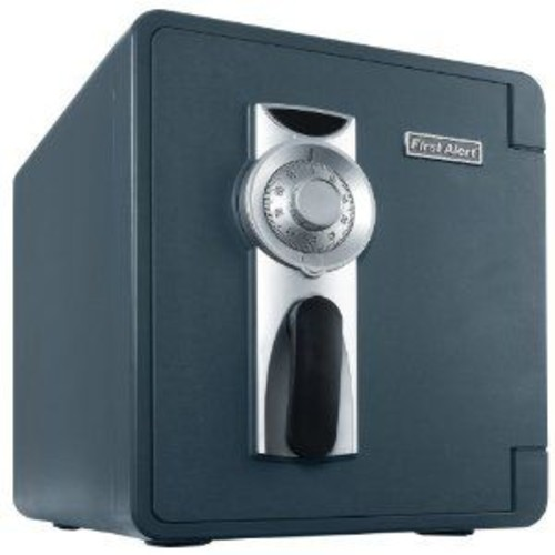 First Alert 2087F-BD Combination Bolt Down Waterproof 1-Hour Fire Safe with Ready Seal, 0.94-Cubic Foot, Slate