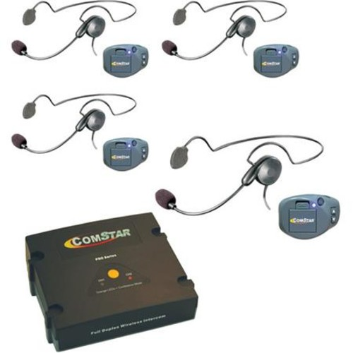 Eartec COMSTAR XT 4-User Wireless Intercom System, 4x Cyber CS Headsets CPKCYB-4