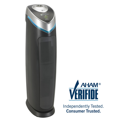 GermGuardian AC5000E 3-in-1 Air Cleaning System with True HEPA Filter, UV-C Sanitizer and Odor Reduction, 28-Inch Tower Air Purifier