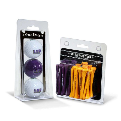 Team Golf LSU Tigers NCAA Golf Ball and Tee Set
