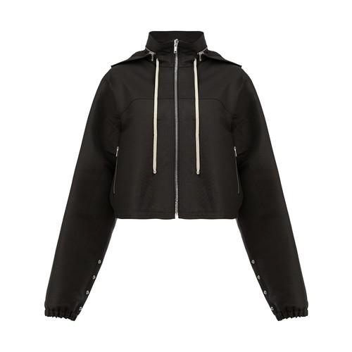 RICK OWENS Detachable Hood Zipped Jacket