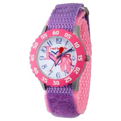 Girls' Red Balloon Stainless Steel Time Teacher Watch - Purple