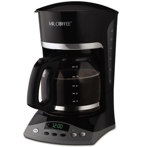 Mr. Coffee Simple Brew 12-Cup Programmable Coffee Maker, Black [Black]
