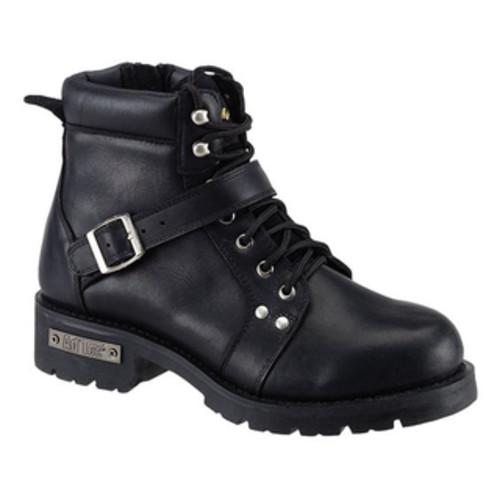 Men's Ride Tecs 9146 8in Zipper Lace Boot Black Leather [option : US Men's 7.5 M (Regular)]