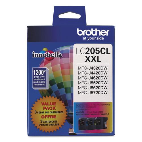 Brother BRTLC2053PKS LC2053PKS Innobella Super High-Yield Ink, Cyan/Magenta/Yellow, 3/PK