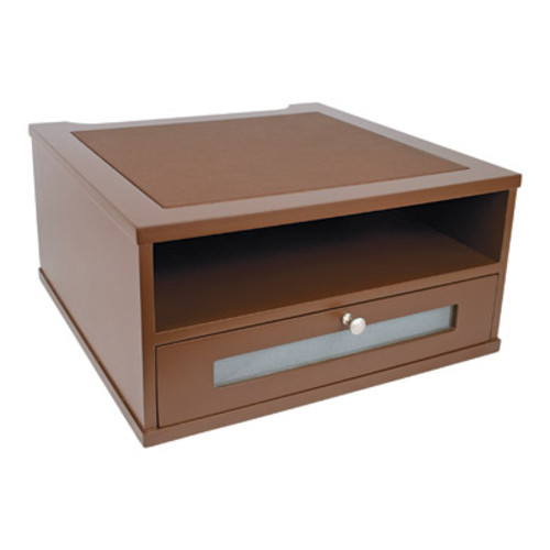 Victor Wood Mocha Brown Collection Monitor Riser, B1175