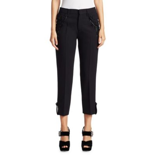 PRADA Embellished Wool Pants