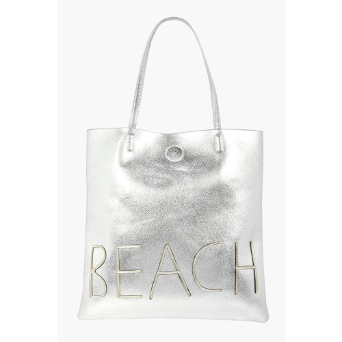 Lillie Metallic Beach Shopper Bag