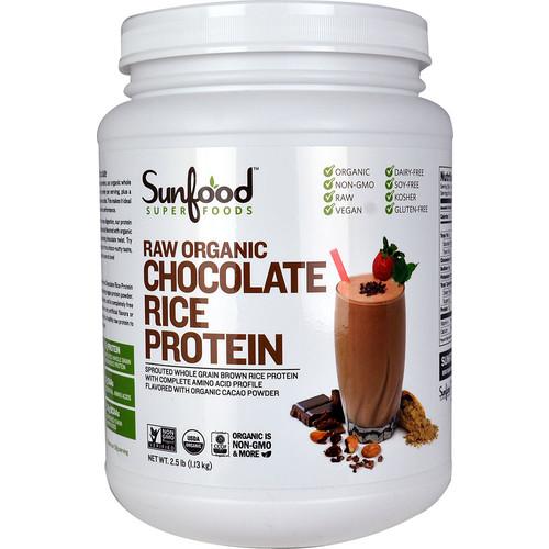 SunFood Organic Rice Protein Chocolate -- 2.5 lbs