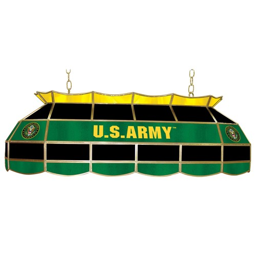 U.S. Army Symbol 40 inch Stained Glass Tiffany Style Lamp