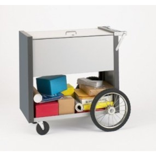 Medium Solid Metal Cart with 16