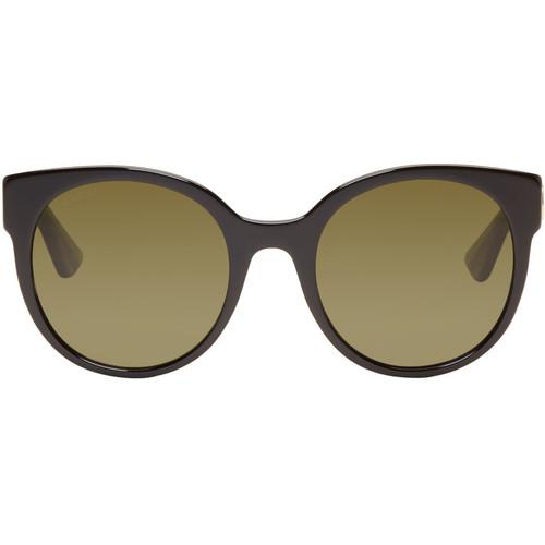 GUCCI Black Round Glitter Sunglasses