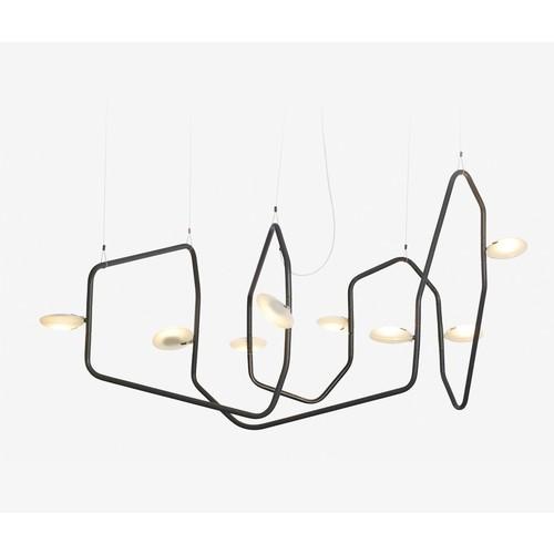 Palindrome 8 Chandelier [Finish : Matte white]