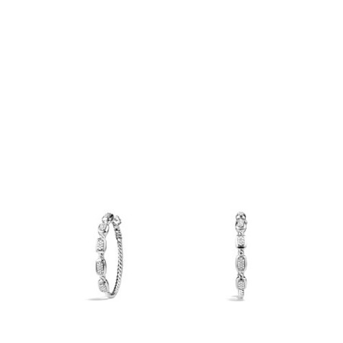 Confetti Hoop Earrings with Diamonds
