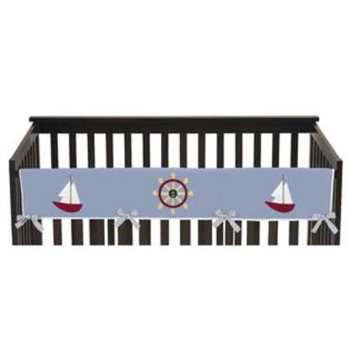 Sweet Jojo Designs Cotton/Microfiber Long Crib Rail Guard Cover for Come Sail Away Collection