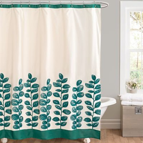 Lush Decor Vineyard Allure Shower Curtain; Green