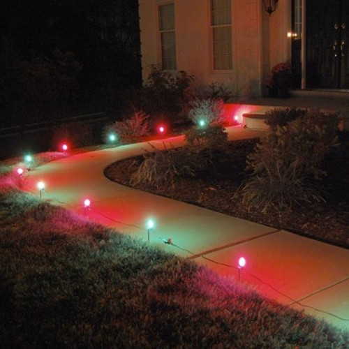 LumaBase Red & Green Pathway Lights