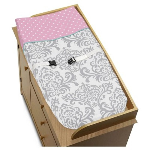 Sweet Jojo Designs Skylar Changing Pad Cover - Gray