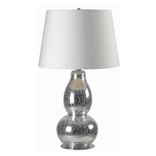Kenroy Home Mercurio 28 in. Cracked Chrome Glass Table Lamp