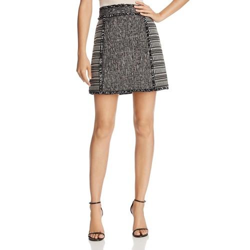 Mix-Media Mini Skirt