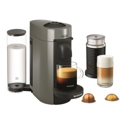 Nespresso Vertuo Plus Coffee and Espresso Maker by De'Longhi with Aerocinno, Gray