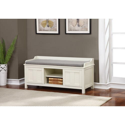 Linon Lakeville White Storage Bench