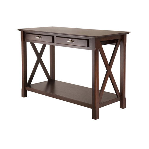Winsome Xola Home Cappuccino Wood 2-drawer Console Table