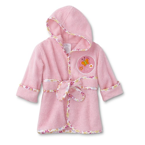 Cudlie Infant Girls' Bath Robe - Butterfly