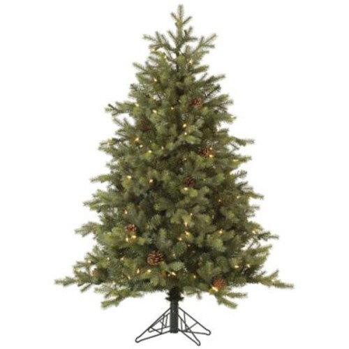 Vickerman Rocky Mountain 7.5' Green Fir Artificial Christmas Tree w/ 800 Dura-Lit Clear Lights