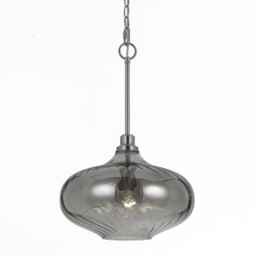 AF Lighting Luna 1-Light Iridescent Smoke Glass Pendant