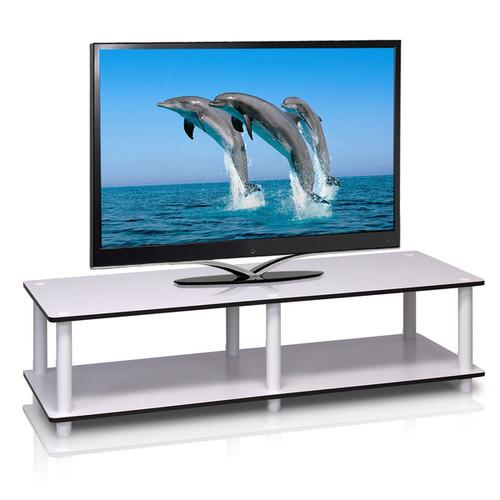 Furinno TV Stands & Entertainment Centers Furinno Just Wide TV Stand [option : Dark Cherry/Black]