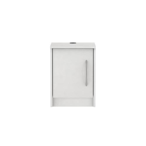 Homestar Oriole 1-Door Off-White Nightstand