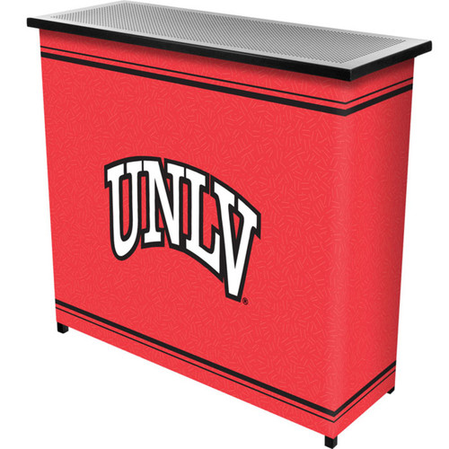 Trademark Global LRG8000-UNLV UNLVT 2 Shelf Portable Bar with Case