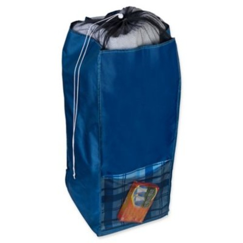 Honey-Can-Do Back to School Laundry Hamper in Blue Flannel